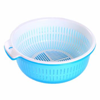 ダブルプレストジック滴の水かごリビングの水果池の野菜バスケットキッチンの蓋をして野菜バスケットを洗って野菜鉢のタイプを洗ってランダムに1セットです。