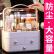 化粧品の収納に役立つ大きな防塵化粧箱引き出し式デスクトップ収納ボックス化粧品収納棚防塵化粧箱【ピンク】