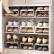 BELO日本式二重の靴棚省スペース家庭用リビングルームプチック靴スリッパ収纳棚ダブル靴棚ベージュ6つの服