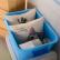 东旺(East well)收纳箱55 L(3つの箱)有滑车大型手持込プラスティック整理箱エコ厚手车库混合色密封服收纳箱