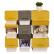 Chahuaプロシュート前にオープンした大きな整理箱の置物棚お菓子おもちゃプリクラ収納箱の収納箱が重いです。箱の黄色34 Lの3つの包装が可能です。(店長オススメ)
