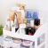 化粧品の収納箱引き出し式多層透明収納箱のデスクトップの整理箱の化粧台の置物棚プリクラケースケースの三層透明