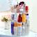 アイヌ回転化粧品収納箱アクリルドレッサー口紅スキンケア用品デスクトップ棚整理家庭用化粧品収納ボックス回転化粧品収納ボックス