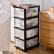 BELO收纳箱プロラク服棚透明整理箱事务室贮蔵物引出し式多层収纳箱五段(透明抽)