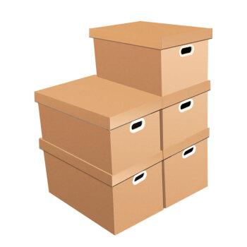 QDZX引越しダンボール55*40*50 cm(5個入り)天地盖収収収纳箱バックル付きトイレットペーパーボックス収纳箱収纳箱オフィス引越し整理箱箱箱箱箱箱箱包装卸売り