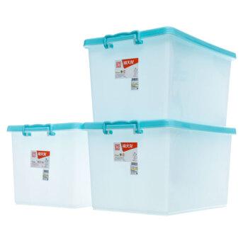 Citylong Citylong Prlash収納箱整理箱の大きいサイズの衣類収納箱のエコロッカー3つは、本色青40 L 6047です。