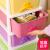 Yeya引出し式收纳箱プリンスティーク整理箱ロッカーロッカーおもちゃ収集箱4階80リットル