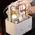 Jinghuisichuang JH8162引き出し式プレ2009チー(名簿化粧品の収納箱デスクトップ防塵フリップ化粧品の整理ボックス