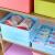 晟艶やかな尚品多格分類下着收纳箱文胸ショーツ靴下小箪笥收纳箱収納物整理箱空青三点セット蓋付き