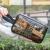 香柚小镇化粧品收纳袋旅行洗濯バッグ防水收纳バッグ韓国简约保管物袋灰色透明金