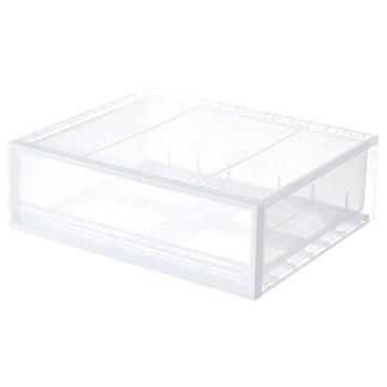 MUJI MUJI PP収納箱/引き出し式/横幅半透明小約55 x幅44.5 x高18 cm