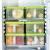 BELO冷蔵庫収納箱引き出し式冷凍整理箱保管箱の分類密封保存ボックス台所プラスティック用ケースの白2つの包装
