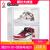 GOTOシューズボックスバスケットボールシューズ収納箱透明磁石高邦酸化防止アクリルシューズボックス収蔵展示靴壁黒モデル三組六本(D 6)