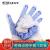 QDZX引越し手袋5副装着ローブ暗号化綿糸手袋白手袋保護手袋厚手滑り止め耐摩耗工事現場作業手袋男女