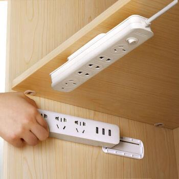 【2つ買ったら1つ送ります。】家庭用のコンセント固定器は穴をあけないでください。ルーターは、壁に挿したまま壁に壁掛を付けます。ケーブルの整列固定器は360°回転します。(1つのセット)
